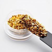 Стеклянные стразы для ногтей (Золото)